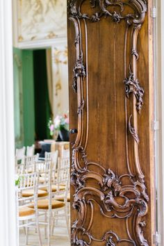 Rococo period wooden door, 1750's, The Netherlands.