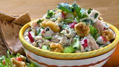 A Smarter Tuna Salad -- love this with apple, radishes and walnuts for crunch! #walnuts #sosimplesogood #CaliforniaWalnuts