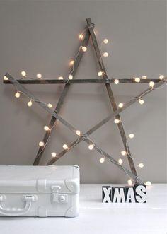 julstjärna jul pynt inspiration inredning tips ide julbelysning pyssel stjärna