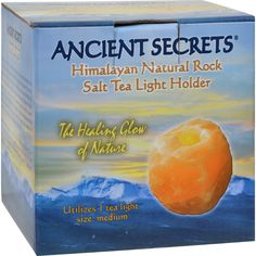 Ancient Secrets Himalayan Natural Rock Salt Tea Light Holder - Medium - 1 Holder - Ancient Secrets Himalayan Natural Rock Salt Tea Light Holders are hand carved salt products from the Himalaya Mountains of Pakistan. The warmth and natural beauty of the glow provided by these candle holders makes them a wonderful accent for any room, as well as an outstanding and much appreciated gift for friends and loved ones. They provide a natural ambiance that enhances home and office, and are a perfect…
