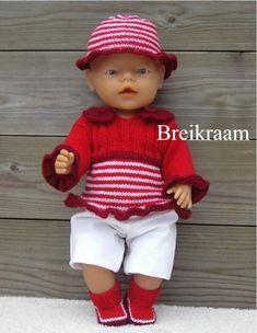 Breipatroon Babyborn truitje