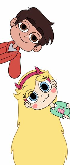 "starcosigning: "" Star and Marco's heads pop out of a background These are heads jump out of a background! """
