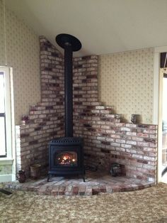 Help with New Stove Purchase for 1500 Sq. Home Wood Stove Surround, Wood Stove Hearth, Stove Fireplace, Franklin Stove, New Stove, Chiminea, Dog Rooms, Wood Storage, Simple House