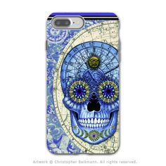 Astrological Steampunk Skull - Artistic iPhone 7 PLUS Tough Case - Dual Layer Protection - Astrologiskull