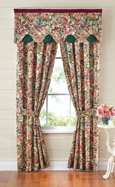 Floral Rose Peacock Curtain Collection