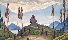 """Nicholas Roerich ~ Backdrop for Stravinsky's ballet """"Le Sacre du Printemps"""""""