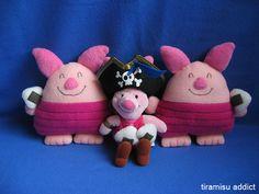 Pirate Piglet and Onigiri Piglets by tiramisu_addict, via Flickr