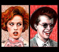 Prints 11x17   Andie Wash and Duckie Dale  Molly by chuckhodi