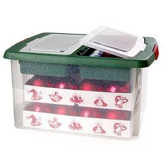 Rubbermaid Christmas Ornament Storage Simple Christmas Ornaments Storage Box In Decorations At Lakeland Inspiration