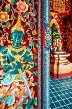 Wat Pa Dara Pirom, Chiang Mai, Thailand Lamy, Chiang Mai, Thailand, Painting, Inspiration, Puertas, Stone, Biblical Inspiration, Painting Art