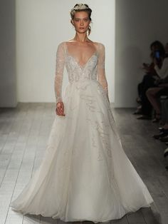Cool Hayley Paige Fall Shimmering Ethereal Wedding Dresses