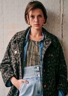 Sézane - Alda Coat Blouse, Style, Products, Fashion, Mantle, Blouse Band, Moda, Fashion Styles, Blouses