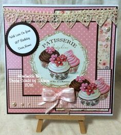 Joanna Sheen Make And Sell, How To Make, Card Ideas, Projects To Try, Shabby Chic, Scrap, Paper Crafts, Cupcakes, Frame