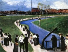 The Athenaeum - Sunday in Spring (Marianne von Werefkin - )