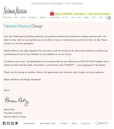 Teavana apologizes for downtown and extends their free shipping neiman marcus had a rough late november suffering site outages on the 20th 28th and 29th in each case they sent a correction email to let subscribers thecheapjerseys Choice Image