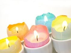 This is a guide about making egg shell candles. Egg shells are a perfect mold or container for making petite decorative candles.