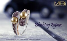 Blushing Bijoux #MBj #Luxury #Desirable #Glamour #Jewellery #Grace #Ruby #Charming #Pearl #Bracelet #Diamond