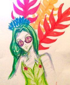 Drawing of h0les eyewear glasses
