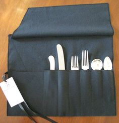 [10] Perfect wedding gift!!   Anti-tarnish flatware roll, monogrammed.  Beautiful flatware storage / silverware storage!  silverware bags