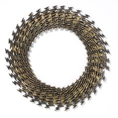 Necklace |  Anthony Hawksley.  1968, gilded silver.