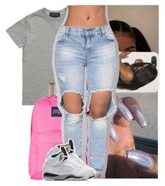 """ ::"" by heeytyy ❤ liked on Polyvore featuring Ralph Lauren, JanSport and NIKE"