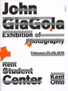 Wolfgang Weingart, Untitled poster for a Kent State University student's photography exhibition (1975)