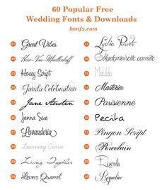 wedding fonts 21-40