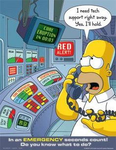 In An Emergency Seconds Count - Simpsons Safety Poster Health And Safety Poster, Safety Posters, Running Cartoon, Cartoon Tv, Safety Message, Workplace Safety, Office Safety, Safety Work, Lab Safety
