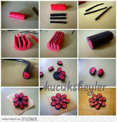 Polymer Clay Canes Tutorials | Polymer clay canes tutorials / polymer clay flower tutorial