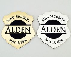 Ring Security ID Badge Secret Agent Alternative Gift For Ring - Ring security badge template