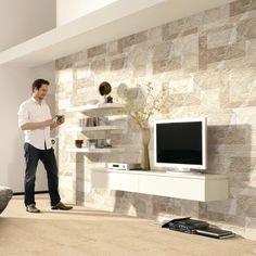 Living Room With Wall Tiles   Buscar Con Google   SALA   Pinterest   Salas  De Estar E Pesquisa Part 37