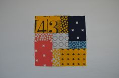 simple six inch quilt sampler block with rectangles