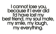I cannot loose you : quotes and sayings