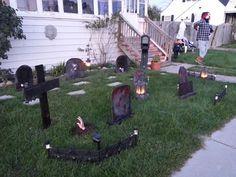Outdoor Halloween decoration.