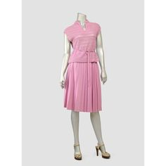 Vintage 1970s Dress • Boho Dress • Pointelle Knit Dress Set Outfit • Mauve Lilac Pink Dress • Blouse Top and Pleated Skirt 2 Piece 70s Dress (S/M)    #vintage #boho #70s #1970s #etsy #womens #dress #dresses #knit #pleated #mauve #pink #top #skirt #set #sets #outfit #outfits #spring #summer