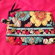 Happy snails cosmetic case Vera Bradley cosmetic case. No stains. Barely used Vera Bradley Bags Cosmetic Bags & Cases