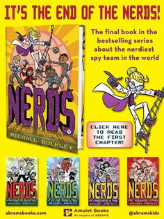 It's the end of the bestselling NERDS series by Michael Buckley!