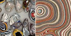 These Gorgeous Stones Were Accidentally Created From Layers of Car Paint In Old Auto Factories | Bored Panda