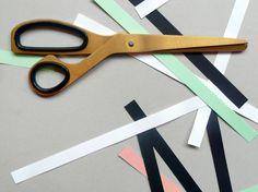 Brass scissors.
