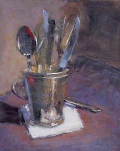 """Full Metal"" 10"" x 8"" oil on board Dana Cooper Fine Art"