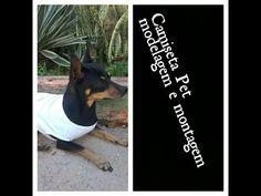 roupa para cachorro, modelagem e montagem de camiseta Aury criações - YouTube