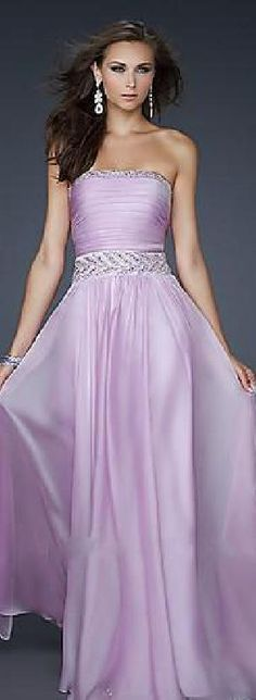 Sexy Chiffon Empire Strapless Pink Natural Evening Dress prom dress prom dresses klkdresses56489djhty #prettydresses #promdress