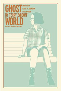 Ghost World (2001) - Minimal Movie Poster by Claudia Varosio #minimalmovieposter #alternativemovieposter #claudiavarosio