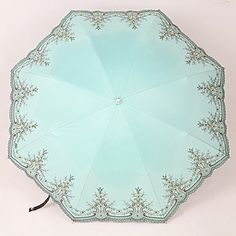 New-Stylish-Retro-Embroidery-Rain-Sun-Umbrellas-Anti-UV-Folding-Parasol-4-Colors