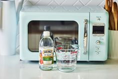 Vinegar's acidity allows it to tackle all sorts of yucky messes, including the splatter on the inside of your microwave.