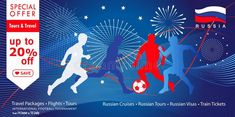 2018 World Cup Russia football Sale web banner, sports, travel, abstract, sign