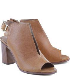 Arezzo leather block heels