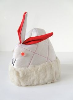 Kids Vintage Little White Bunny Hat by TheBIG8s
