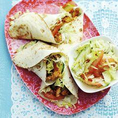 Recept - Wraps met shoarma en salade - Allerhande