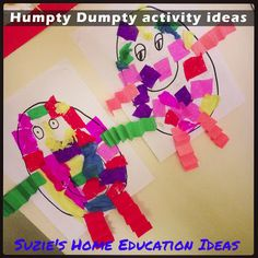 Suzie's Home Education Ideas: Nursery Rhymes - Humpty Dumpty activity ideas plus printables and links to more ideas you can do
